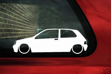 2x LOW Renault Clio Mk1 williams 16v, outline stickers